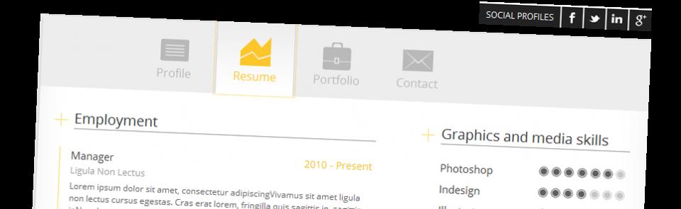 Uw CV maken op het web